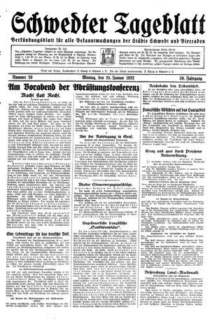 Schwedter Tageblatt vom 25.01.1932