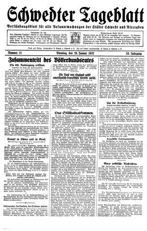 Schwedter Tageblatt vom 26.01.1932