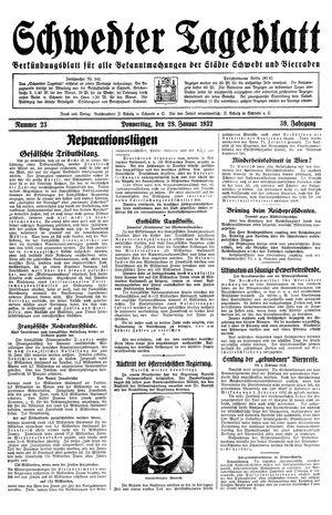 Schwedter Tageblatt vom 28.01.1932