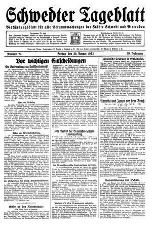 Schwedter Tageblatt vom 29.01.1932