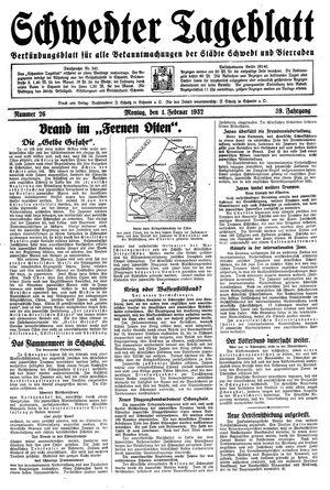 Schwedter Tageblatt vom 01.02.1932