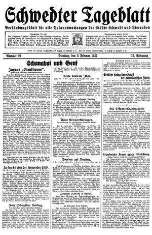 Schwedter Tageblatt vom 02.02.1932