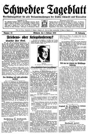 Schwedter Tageblatt vom 03.02.1932