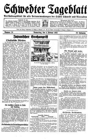 Schwedter Tageblatt vom 04.02.1932