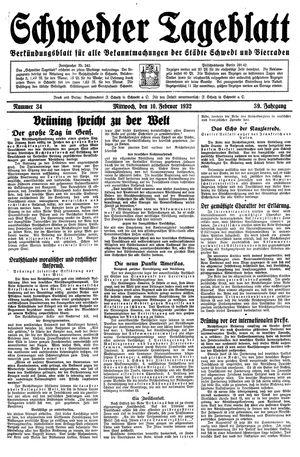 Schwedter Tageblatt vom 10.02.1932