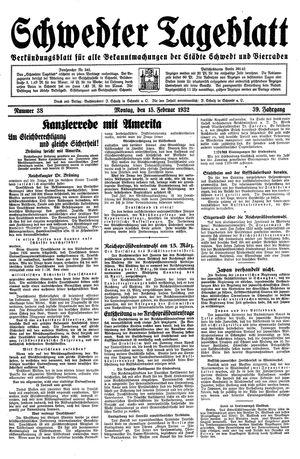 Schwedter Tageblatt vom 15.02.1932