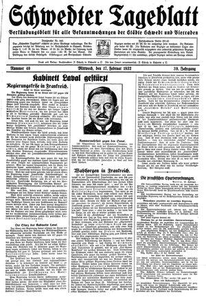 Schwedter Tageblatt vom 17.02.1932