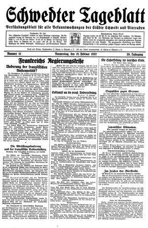 Schwedter Tageblatt vom 18.02.1932