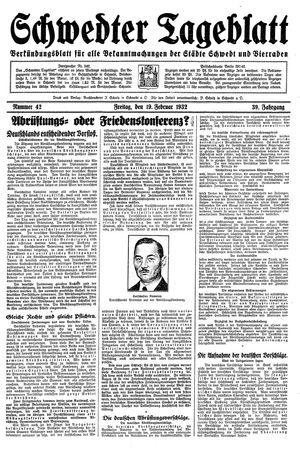 Schwedter Tageblatt vom 19.02.1932