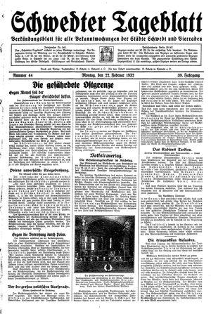 Schwedter Tageblatt vom 22.02.1932