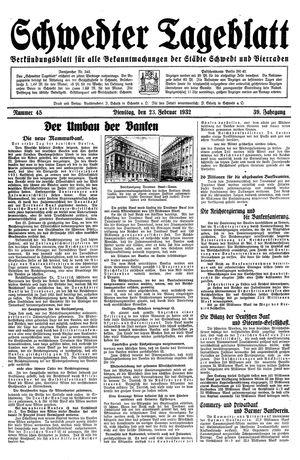 Schwedter Tageblatt vom 23.02.1932