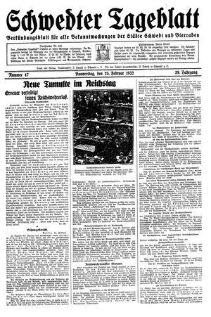 Schwedter Tageblatt vom 25.02.1932