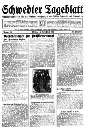 Schwedter Tageblatt vom 29.02.1932
