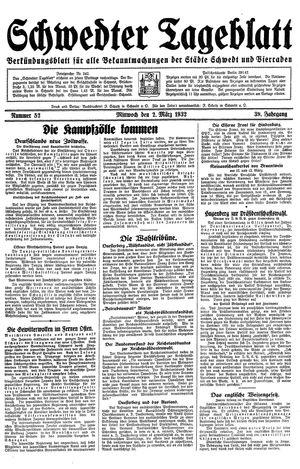Schwedter Tageblatt vom 02.03.1932