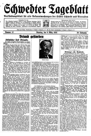 Schwedter Tageblatt vom 08.03.1932