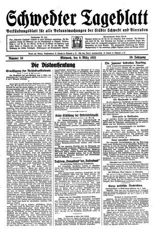 Schwedter Tageblatt vom 09.03.1932