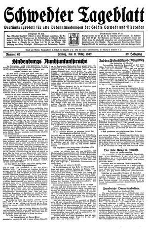 Schwedter Tageblatt vom 11.03.1932
