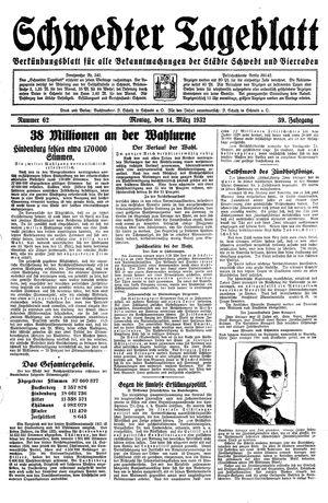 Schwedter Tageblatt vom 14.03.1932