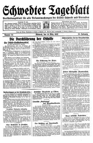 Schwedter Tageblatt vom 16.03.1932