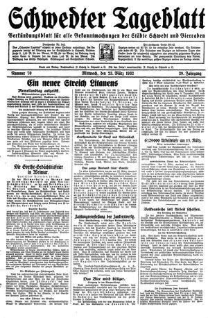 Schwedter Tageblatt vom 23.03.1932