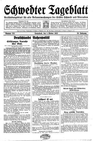 Schwedter Tageblatt vom 01.10.1932