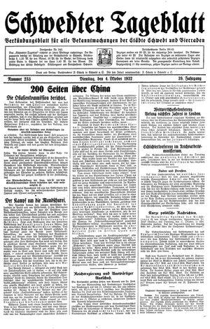 Schwedter Tageblatt vom 04.10.1932