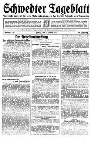 Schwedter Tageblatt on Oct 7, 1932