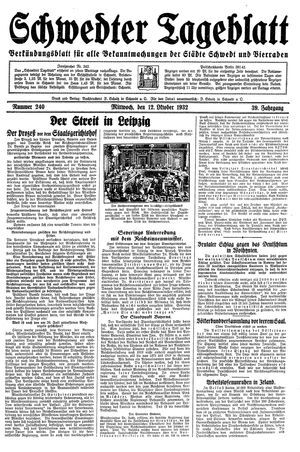 Schwedter Tageblatt vom 12.10.1932