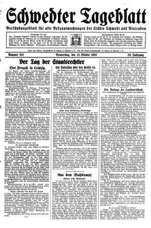 Schwedter Tageblatt vom 13.10.1932