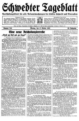 Schwedter Tageblatt vom 17.10.1932