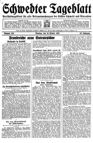 Schwedter Tageblatt vom 18.10.1932