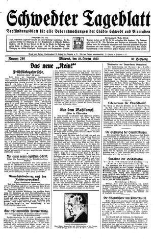 Schwedter Tageblatt vom 19.10.1932