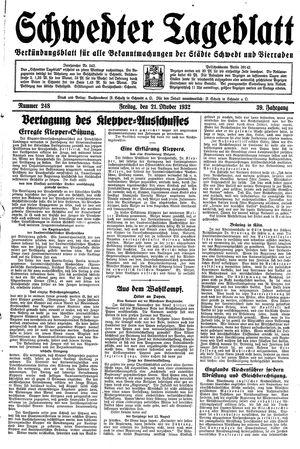 Schwedter Tageblatt vom 21.10.1932