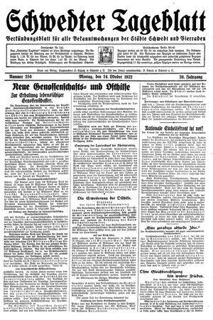 Schwedter Tageblatt vom 24.10.1932
