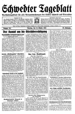 Schwedter Tageblatt vom 25.10.1932