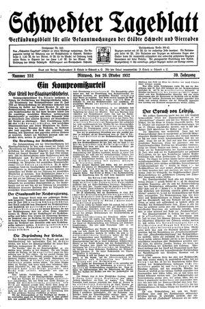 Schwedter Tageblatt vom 26.10.1932