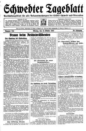 Schwedter Tageblatt on Oct 31, 1932