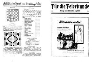 Schwedter Tageblatt vom 04.11.1932