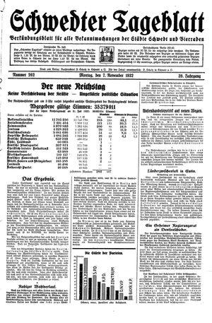 Schwedter Tageblatt on Nov 7, 1932