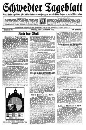Schwedter Tageblatt vom 08.11.1932