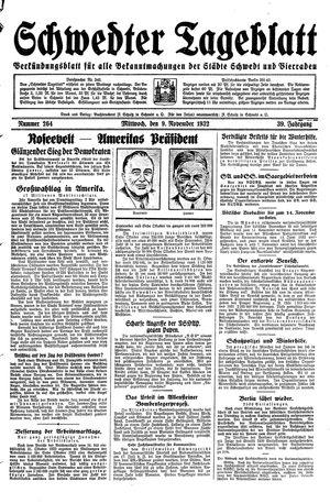 Schwedter Tageblatt vom 09.11.1932