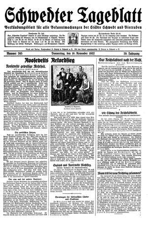 Schwedter Tageblatt vom 10.11.1932