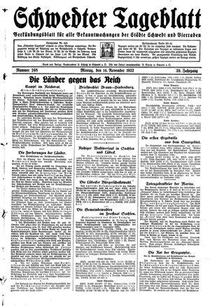 Schwedter Tageblatt vom 14.11.1932