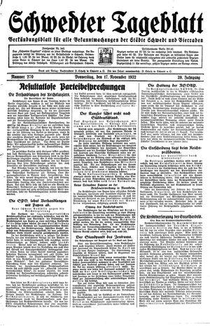 Schwedter Tageblatt vom 17.11.1932