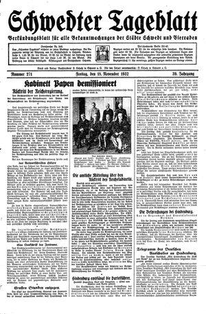 Schwedter Tageblatt vom 18.11.1932