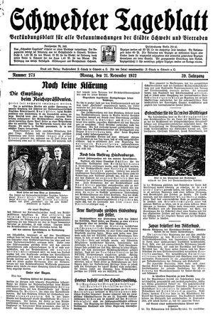 Schwedter Tageblatt vom 21.11.1932