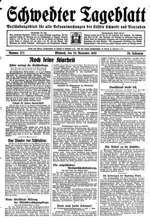 Schwedter Tageblatt vom 23.11.1932