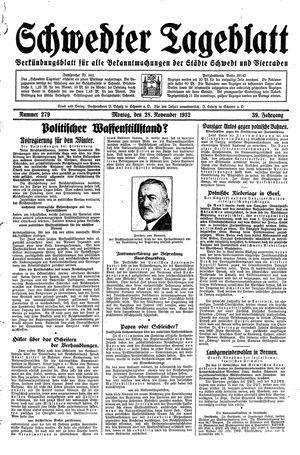 Schwedter Tageblatt on Nov 28, 1932