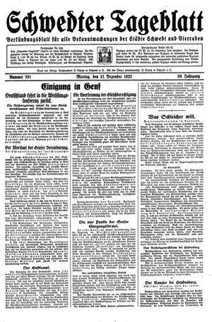 Schwedter Tageblatt vom 12.12.1932