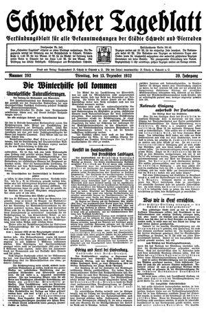Schwedter Tageblatt vom 13.12.1932